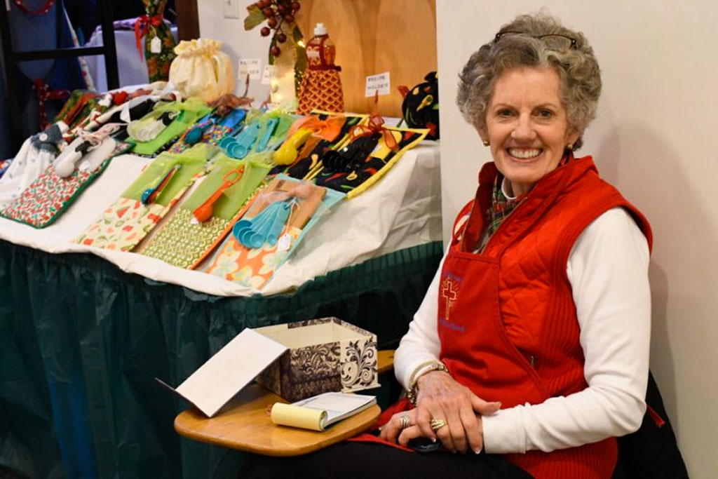 Gail F at Christmas Bazaar