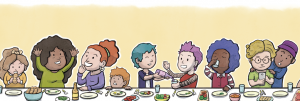 Supper table illustration