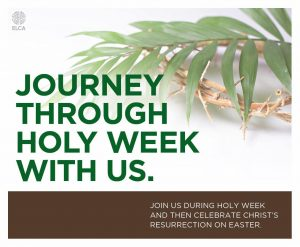 Journey through Holy Week with us.