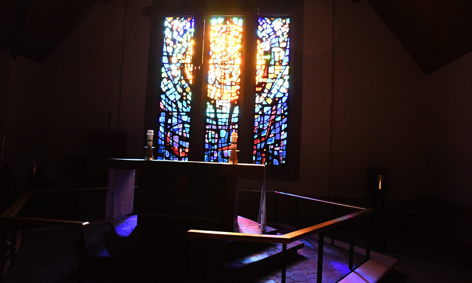 Altar in darkness
