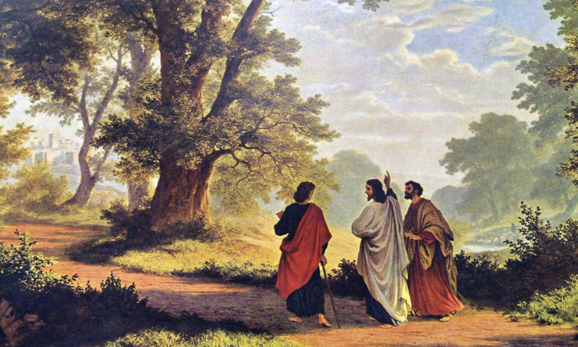 Road to Emmaus, by Robert Zund