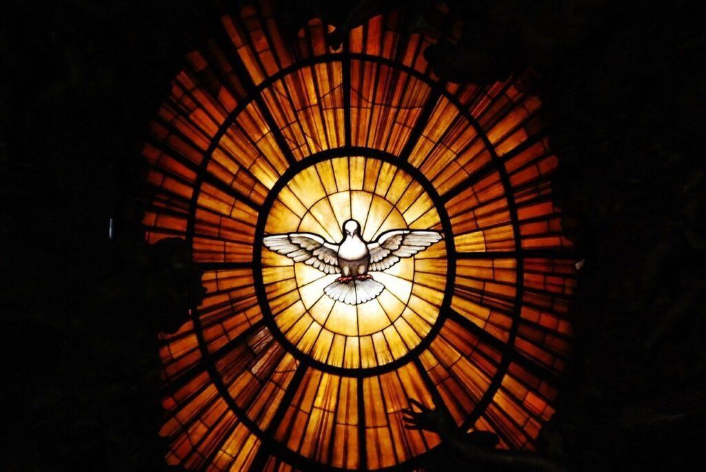 Vatican window with dove