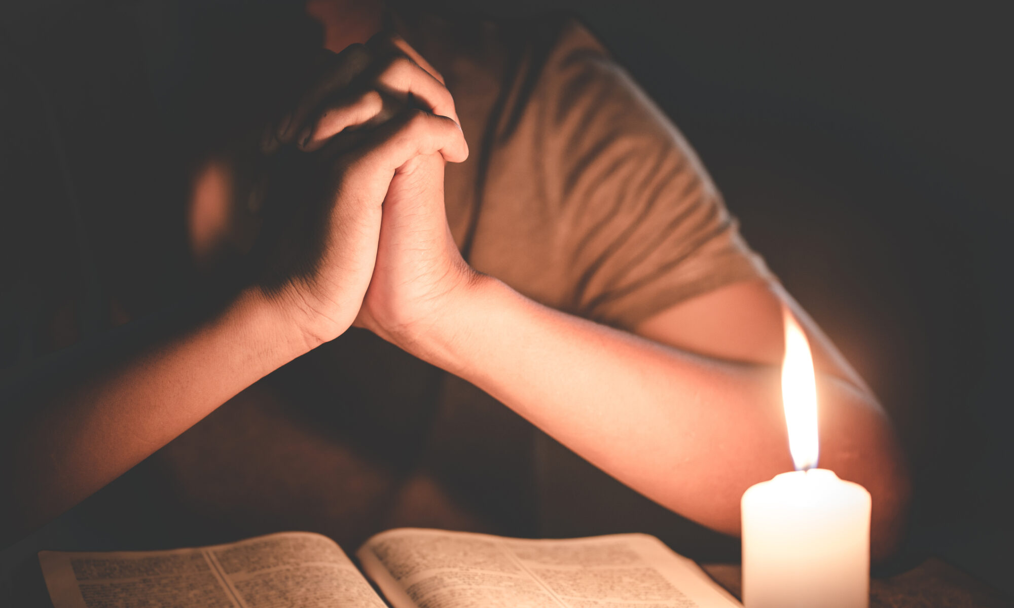 A person studying the Bible